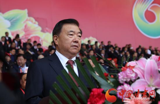 日上午,甘肃省临夏回族自治州建州60周年庆祝活动在临夏市举行,